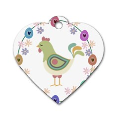Easter Dog Tag Heart (One Side)