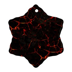 Volcanic Textures Snowflake Ornament (Two Sides)