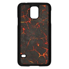 Volcanic Textures Samsung Galaxy S5 Case (Black)