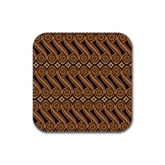 Batik The Traditional Fabric Rubber Square Coaster (4 pack)