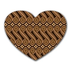 Batik The Traditional Fabric Heart Mousepads