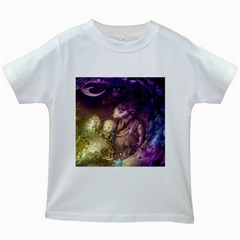Cartoons Video Games Multicolor Kids White T-Shirts