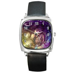 Cartoons Video Games Multicolor Square Metal Watch