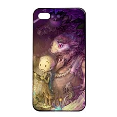 Cartoons Video Games Multicolor Apple iPhone 4/4s Seamless Case (Black)