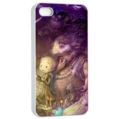 Cartoons Video Games Multicolor Apple iPhone 4/4s Seamless Case (White)