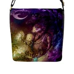 Cartoons Video Games Multicolor Flap Messenger Bag (L)