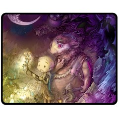 Cartoons Video Games Multicolor Double Sided Fleece Blanket (Medium)
