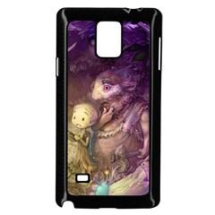 Cartoons Video Games Multicolor Samsung Galaxy Note 4 Case (Black)