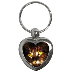 Cat Face Key Chains (Heart)