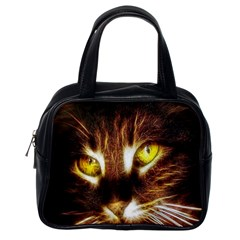Cat Face Classic Handbags (One Side)