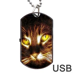 Cat Face Dog Tag USB Flash (One Side)