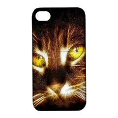 Cat Face Apple iPhone 4/4S Hardshell Case with Stand