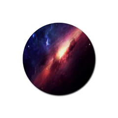 Digital Space Universe Rubber Round Coaster (4 pack)