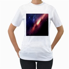 Digital Space Universe Women s T-Shirt (White)