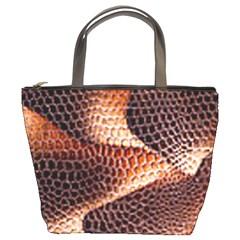 Snake Python Skin Pattern Bucket Bags