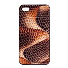 Snake Python Skin Pattern Apple iPhone 4/4s Seamless Case (Black)