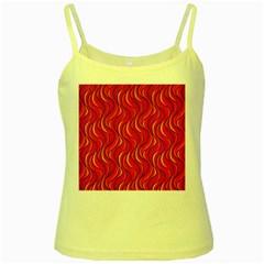 Pattern Yellow Spaghetti Tank