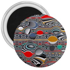 Changing Forms Abstract 3  Magnets