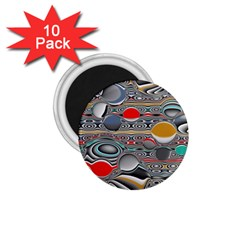 Changing Forms Abstract 1.75  Magnets (10 pack)