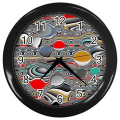 Changing Forms Abstract Wall Clocks (Black)