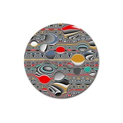 Changing Forms Abstract Magnet 3  (Round)