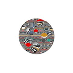 Changing Forms Abstract Golf Ball Marker (4 Pack)