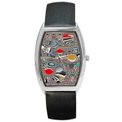 Changing Forms Abstract Barrel Style Metal Watch