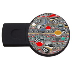 Changing Forms Abstract USB Flash Drive Round (4 GB)