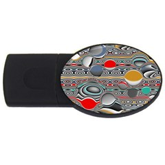 Changing Forms Abstract USB Flash Drive Oval (4 GB)