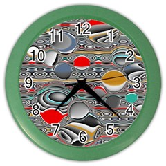 Changing Forms Abstract Color Wall Clocks