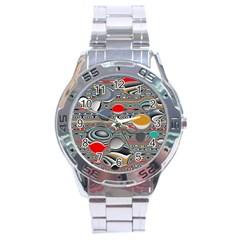 Changing Forms Abstract Stainless Steel Analogue Watch