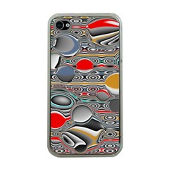 Changing Forms Abstract Apple Iphone 4 Case (clear)