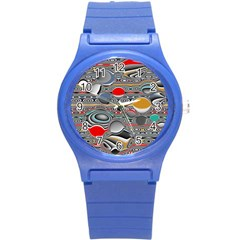 Changing Forms Abstract Round Plastic Sport Watch (S)