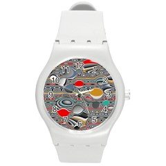 Changing Forms Abstract Round Plastic Sport Watch (M)