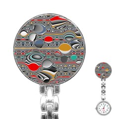 Changing Forms Abstract Stainless Steel Nurses Watch