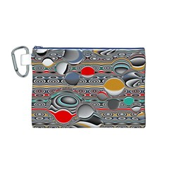 Changing Forms Abstract Canvas Cosmetic Bag (m)