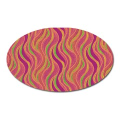 Pattern Oval Magnet