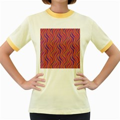 Pattern Women s Fitted Ringer T-Shirts