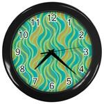 Pattern Wall Clocks (Black) Front