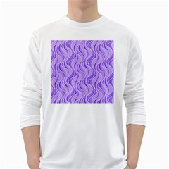 Pattern White Long Sleeve T-Shirts