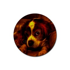 Cute 3d Dog Rubber Round Coaster (4 pack)