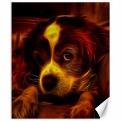 Cute 3d Dog Canvas 8  x 10