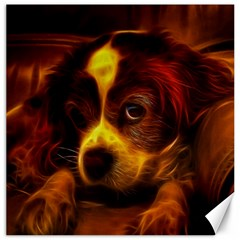 Cute 3d Dog Canvas 12  x 12