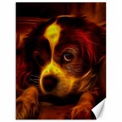 Cute 3d Dog Canvas 12  x 16