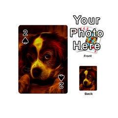 Cute 3d Dog Playing Cards 54 (Mini)