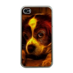 Cute 3d Dog Apple iPhone 4 Case (Clear)