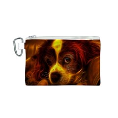 Cute 3d Dog Canvas Cosmetic Bag (S)