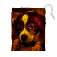 Cute 3d Dog Drawstring Pouches (Extra Large)