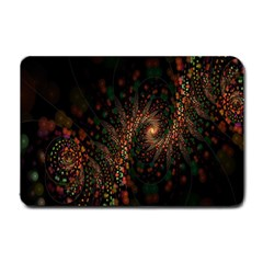 Multicolor Fractals Digital Art Design Small Doormat