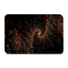 Multicolor Fractals Digital Art Design Plate Mats